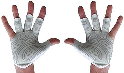 Rowing Gloves & Gym Gloves - Pair Textured Palm - Best Comfortable Scull Fingerless Gloves for Men Women (Medium 20 - 21.5 cm, (Simulators For Women)