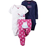 Carter's Baby Girls Take Me Away 3-Piece Little Character Set -12 Months -Purple Owl