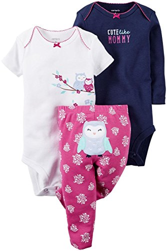 Carter's Baby Girls Take Me Away 3-Piece Little Character Set  -18 Months -Purple Owl