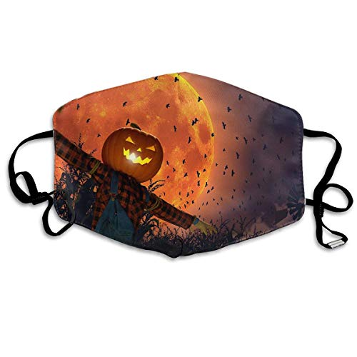 SOADV Mouth Masks Halloween Pumpkin Pattern Mouth Masks Unisex Anti-Dust Flu Washable Reusable Mouth Mask Fashion Design for Girls Women Boys -