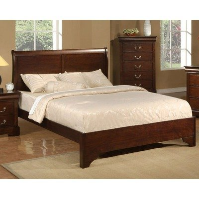 (Alpine Furniture West Haven Sleigh Bed, Queen Size)