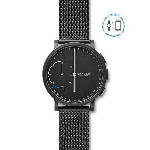Skagen Connected Men's Hagen Stainless Steel Mesh Hybrid Smartwatch, Color: Black (Model: SKT1109) ()