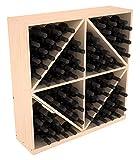 Wine Racks America Ponderosa Pine 96 Bottle Solid Diamond Bin. Unstained Review