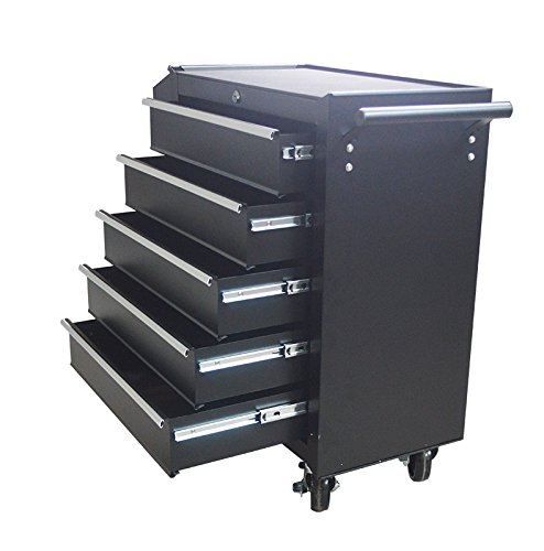Tool Car with Wheels 5 Drawers Heavy Duty Locking System Box Cart 239315 by Home & Garden
