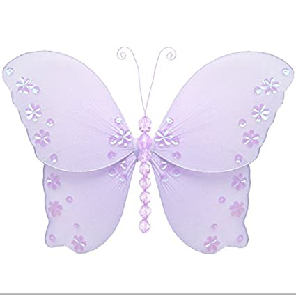 Hanging Butterfly X-Large 18 Pink Twinkle Nylon Mesh Butterflies ...