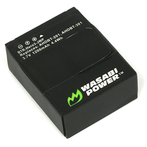 Wasabi Power Battery for GoPro HD HERO3, HERO3+ and GoPro AHDBT-201, AHDBT-301, AHDBT-302 (1200mAh)