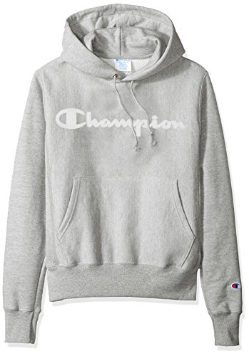 Champion LIFE Men's Reverse Weave Script Pullover Hoodie, Oxford Gray, S (Champion Life Mens Reverse Weave Pullover Hoodie)