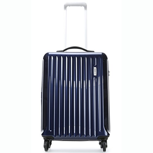 Bric's Riccione 21 inch International Carry on Spinner, Blue Shiny