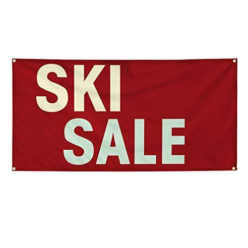 Brand New Vinyl Banner Sign Ski Sale #1 Outdoor Advertising Printing Outdoor Advertising Printing - 36inx90in, 6 Grommets, Set of 3