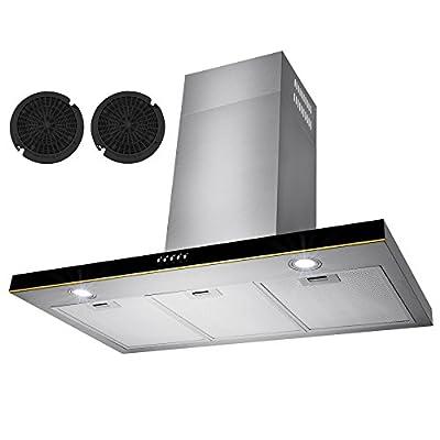 "Golden Vantage® 36"" Stainless Steel Wall Mount Range Hood Control Light Lamp Kitchen Vents"