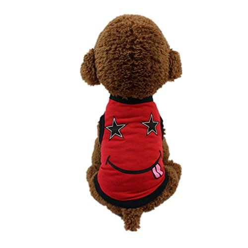 Pet Dress,Haoricu Hot Sale!Cute Puppy Dog T Shirt For Small Dogs Cat Summer Pet Clothes (XS, Red)