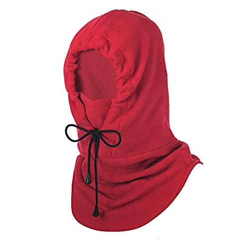 Hisea Fleece Balaclava - Windproof Warm Full Face Military Tactical Mask for Kids, Riding, Training, (Cappuccio Foderato Hat)