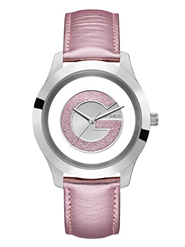 G-by-GUESS-Womens-Silver-Tone-and-Pink-Watch
