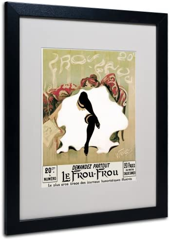 Le Frou Frou by Lucien Henri Weiluc Canvas Artwork in Black Frame, 16 by 20-Inch