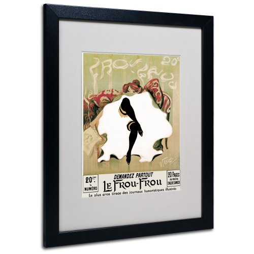 Le Frou Frou by Lucien Henri Weiluc Canvas Artwork in Black Frame, 16 by 20-Inch by Trademark Fine Art