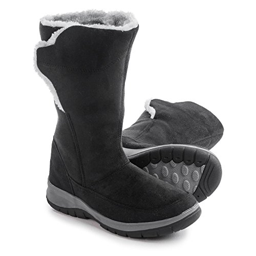 Boots Itasca Womens (Itasca Lakeland Womens Black Warm Winter Fashion Snow Boots (8, Black))