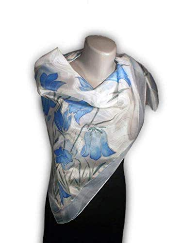 d46eefcf701c Amazon.com  BLUE DAY Hand-Painted Silk Scarf
