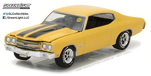 1970 Chevrolet COPO Chevelle SS Daytona Yellow Mecum Auctions Collector Series 1 1/64 by Greenlight 37110 E