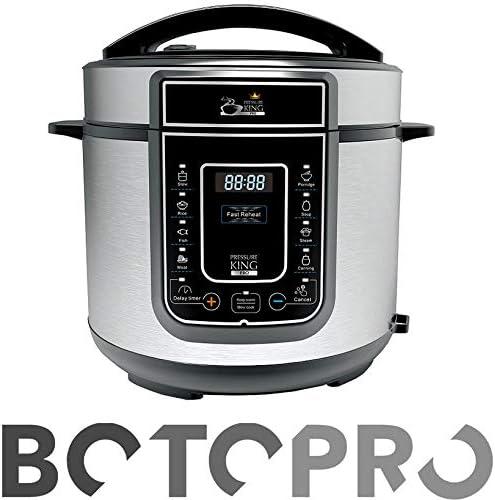 BOTOPRO - Pressure King Pro 5L, el Robot de Cocina 12 en 1. Incluye Gratis Cucharon y Recetario - Anunciado en TV: Amazon.es