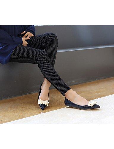 PDX/ Damenschuhe - Ballerinas - Büro / Kleid / Lässig - Kunstleder - Flacher Absatz - Spitzschuh / Geschlossene Zehe - Schwarz / Blau / Rosa black-us5.5 / eu36 / uk3.5 / cn35