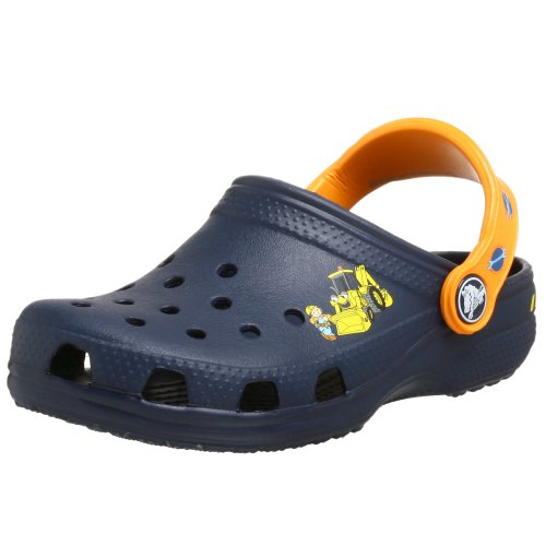 UPC 883503213562, Crocs Toddler/Little Kid Bob the Builder Sandal,Navy/Mango,4-5 M US Toddler