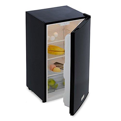 Klarstein Beerkeeper Kühlschrank 92 Liter Standkühlschrank (40db leise, 3 Fächer, 1 Gemüse Schub-Fach, Temperatur-Regler, beleuchtet) schwarz