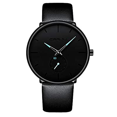 Mens Watch Ultra Thin Wrist Watches for Men Fashion Waterproof Dress Stainless Steel Band from FIZILI