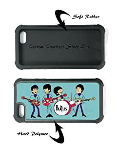 Beatles Apple iPhone 5 (2 in 1) RUBBER and Hard Case/Cover