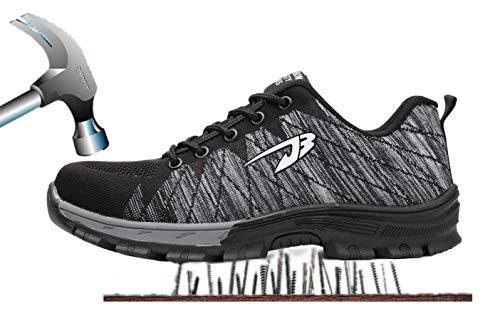 Scarpe Acciaio di con in Comodissime Punta grigio Sneaker Donna Calzature Antinfortunistiche Scarpe Sportive Cantiere Lavoro Nero Escursionismo Sicurezza Stivali da Uomo Traspiranti da Axcer e per S3 Scarpe da qC7Ov8Zw