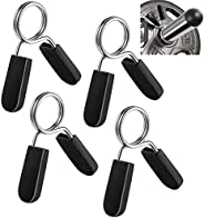 Lestino Dumbbell Spring Collars (Pack of 4), Exercise Collars Barbell Clip Clamps for Olympic Weight Bar Threa