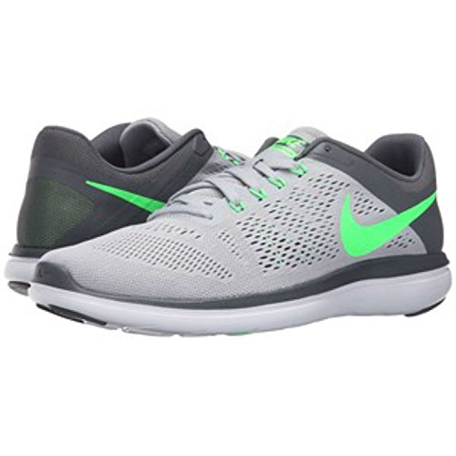 Zapatillas para correr Nike Flex 2016 RN Wolf Grey / Rage Green / Dark Grey / White para hombre