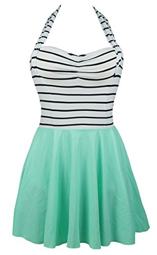 Green Stripe Halter - 8