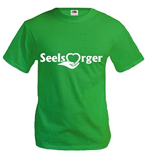T-Shirt Seelsorger-M-Kellygreen-White