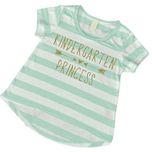 1st Day of Kindergarten Shirt, Girls Kindergarten Clothes, Back to School Shirts for Girls, Kindergarten Princess (6T) (Best First Day Of School Outfits)