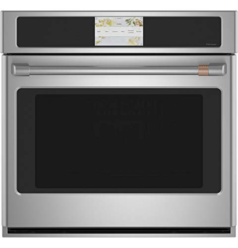 GE CAFE CTS70DP2NS1 30″ Built-In Convection Single Wall Oven with 5 cu. ft. Capacity True European Convection with Direct Air Self-Clean with Steam Clean Glass Touch Control in Stainless Steel