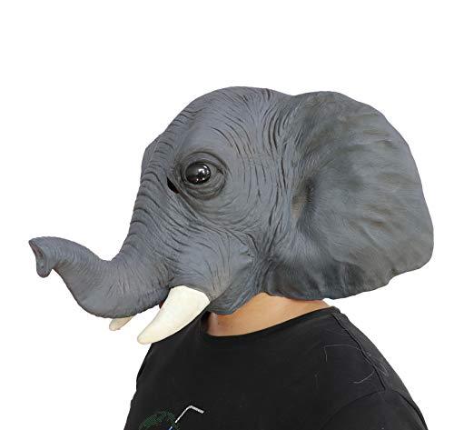 Medical Halloween Decorations (Ifkoo Deluxe Latex Elephant Mask Novelty Creepy Halloween Animal Head Mask Costume Party)