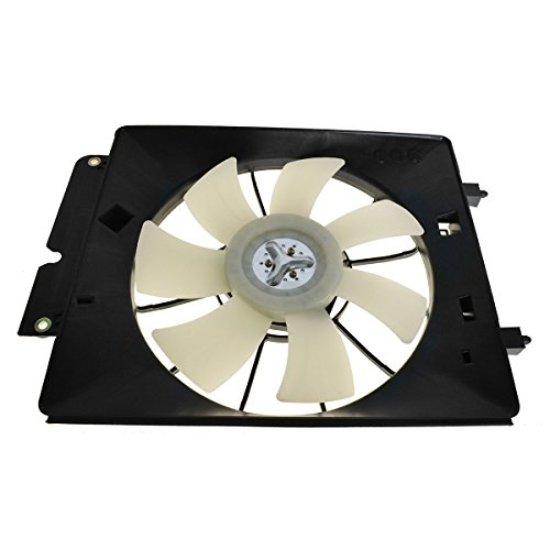A/C AC Air Conditioning Condenser Cooling Fan Motor & Shroud for 02-06 CR-V CRV A/c Cooling Fan Shroud