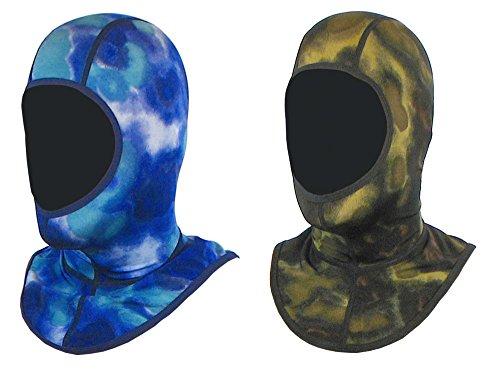 Mako Dive - Dive Skin Camo Lycra Hood (Blue, Large/X-Large)