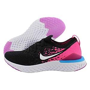 Best Epic Trends 41hT0NHRCoL._SS300_ Nike Girls' Big Kids Epic React Flyknit 2 Running Shoes (6, Black/Racer Pink)