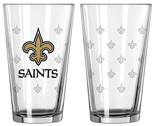 Boelter Brands New Orleans Saints Satin Etch Pint Glass -