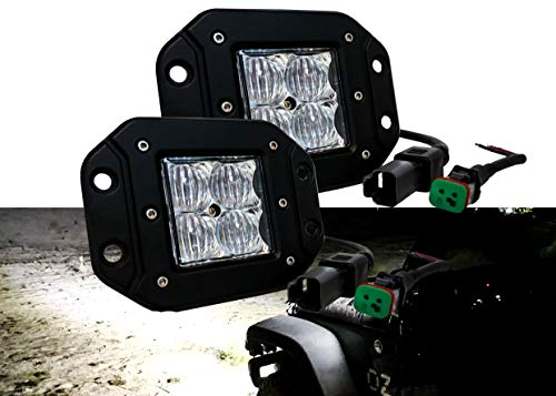3 Series Led 4d (OZ-USA 4D POD Flush Mount Phillips LED Flood Lights Fog utv Offroad 3x3 Race Truck Van Racing)