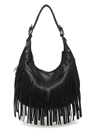 - Style Strategy Bella Fringe Hobo Bag