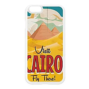 Cairo White Silicon Rubber Case for iPhone 6 by Nick Greenaway + FREE Crystal Clear Screen Protector wangjiang maoyi