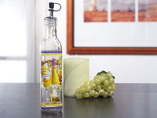 Europa Collection Medium Oil Bottle With White Wine Design C836 Quantity of 1 by ()