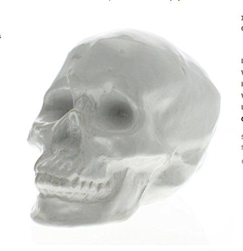 HomArt White Ceramic Skull]()