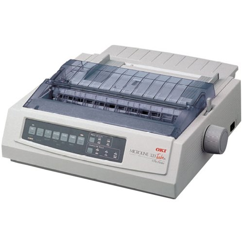 Okidata - Oki Microline 320 Turbo/N Printer Monochrome Dot-Matrix 240 X 216 Dpi 9 Pin Up To 435 Char/Sec Parallel, Usb, Lan