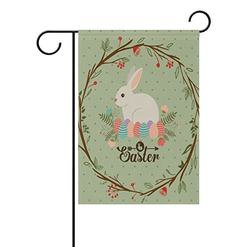 My Daily Easter Bunny Rabbit Colorful Eggs Decorative Double