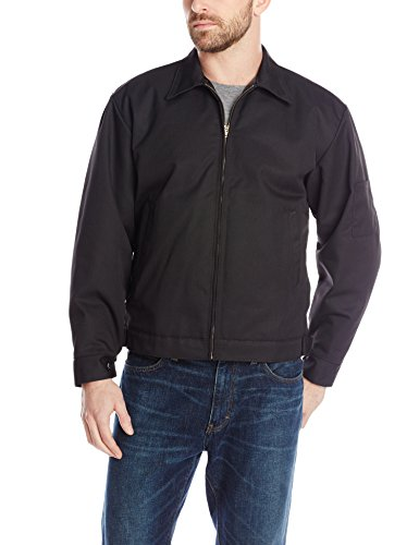 Red Kap Men's Slash Pocket Quilt-Lined Jacket, Black, Medium