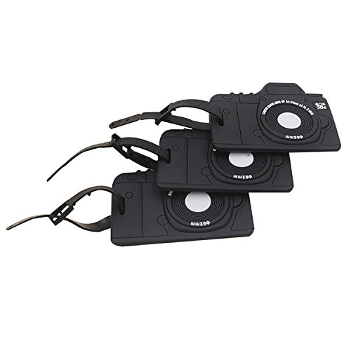 Onway Camera Tags Luggage Tag Suitcase ID Tag with Adjustable Strap(3pack)