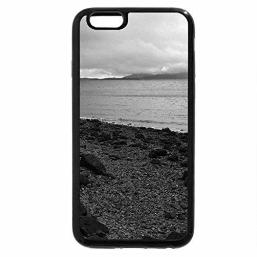 iPhone 6S Case, iPhone 6 Case (Black & White) - Washington Coastline